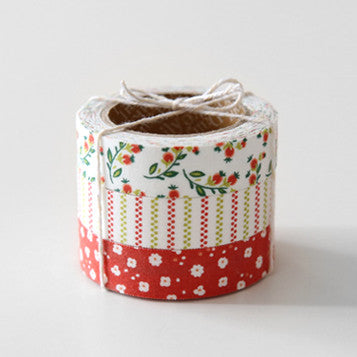 Fabric Tape 3pk : Strawberry