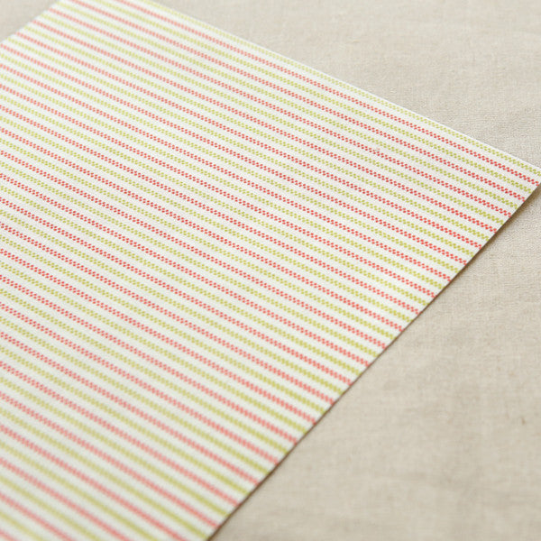 Adhesive Fabric A4 1pk : Strawberry - Berry Stripe