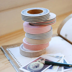 Fabric Tape : Stripe - Brown