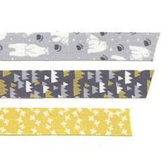 Fabric Tape 3pk : White Night