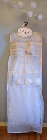 ultimate bridal garment bag with pockets