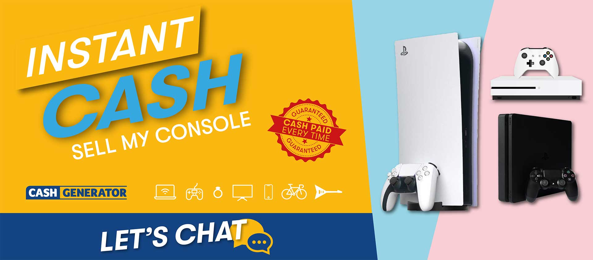 Sell my console for cash in Hinckley