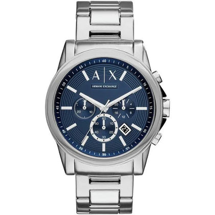Armani Exchange Men's Silver Stainless Steel Bracelet Watch