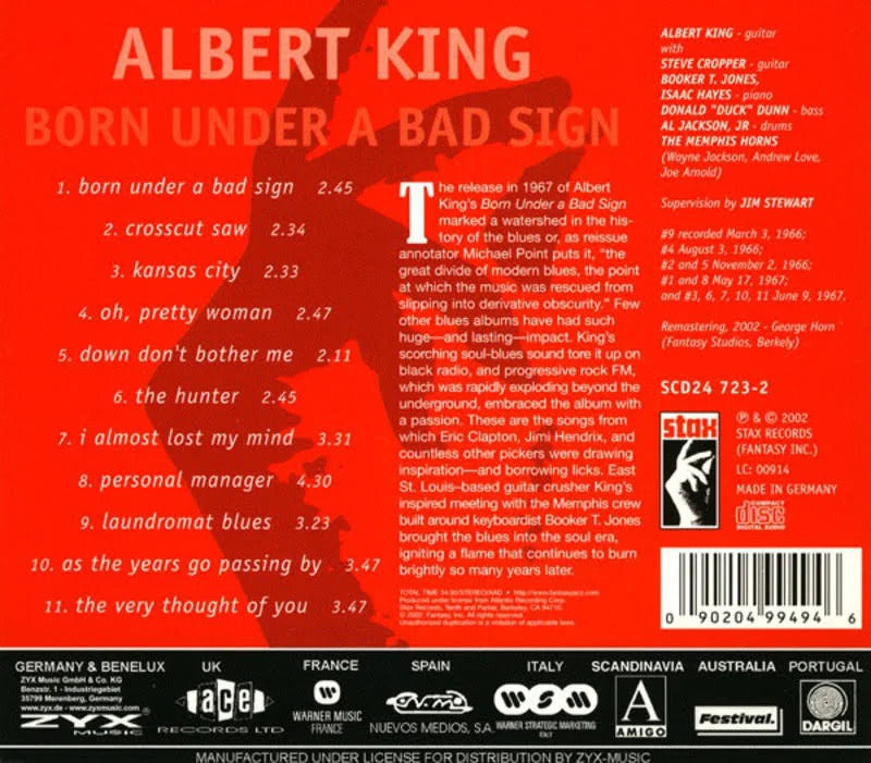 Albert King - Born Under A Bad Sign (Compact Disc CD)