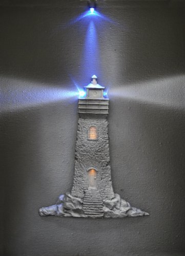 Steepletone monochrome 3D picture with LED Art - Light House - (28w x 38h cm)…
