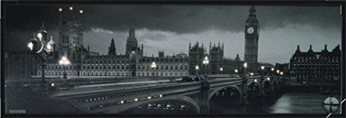 "Steepletone ~ London Night Scene ~ LED Monochrome Picture ~ 12"" x 24""…"