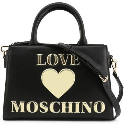 LOVE  Moschino Faux Leather Hand Bag women - Black