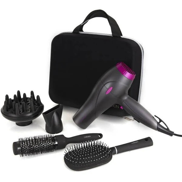 Carmen Neon Hair Dryer Styling Set - 2200W