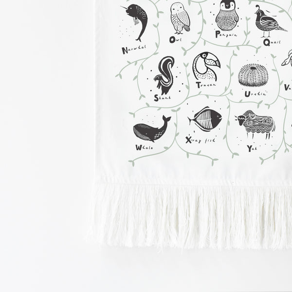 Animal Alphabet Printed Tapestry