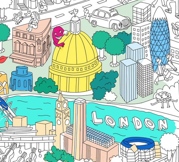 LONDON colouring poster