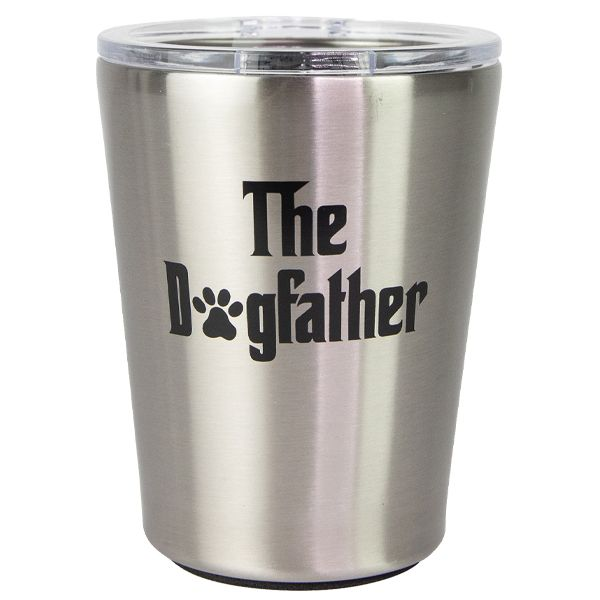 The Dogfather - Stainless Steel Coffee Tumbler