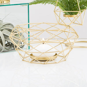 Modern Gold Geometric Metal Table Centrepiece
