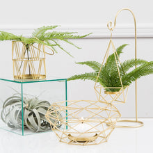 Load image into Gallery viewer, Modern Gold Geometric Metal Table Centrepiece