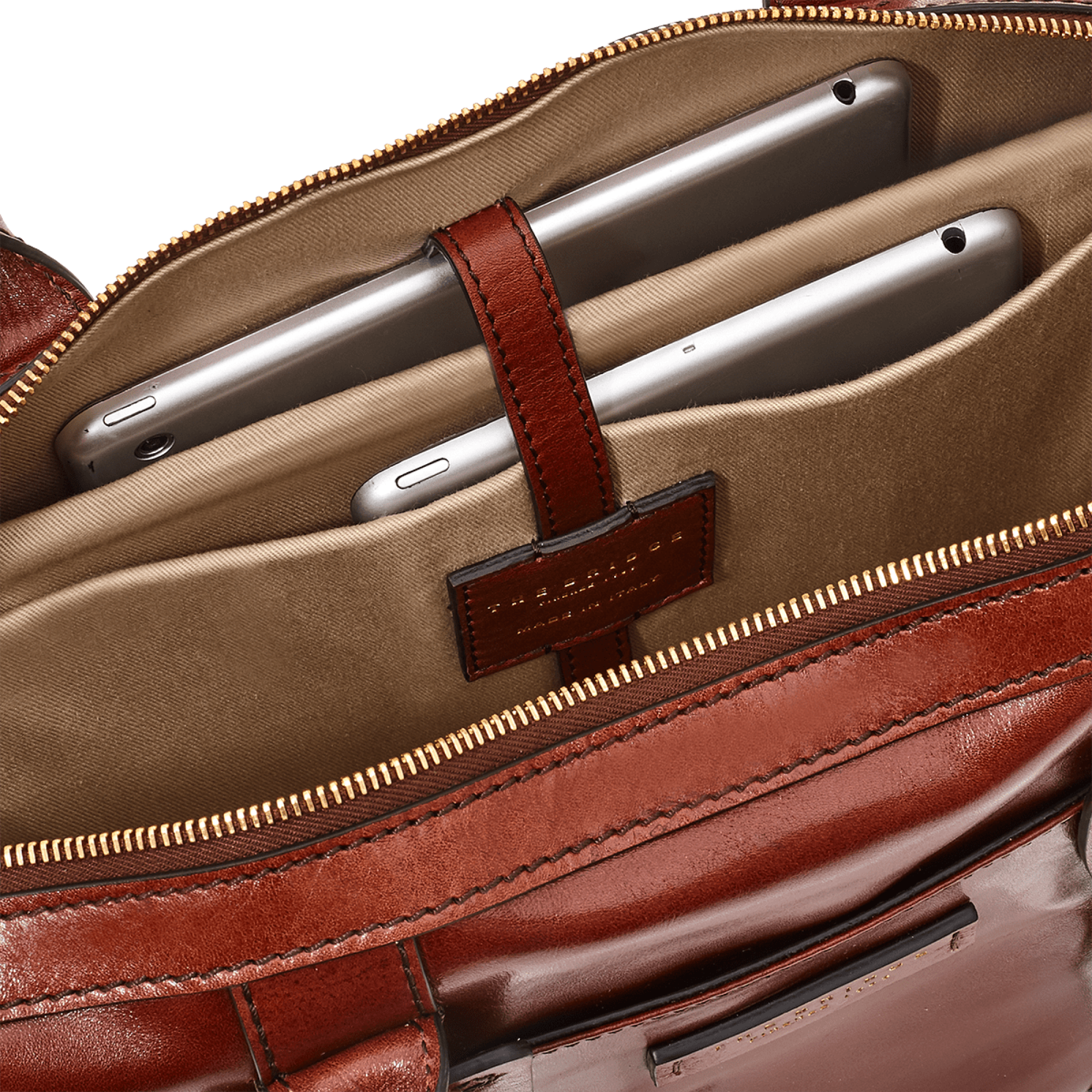 The Bridge Giannutri Leather Briefcase in Brown