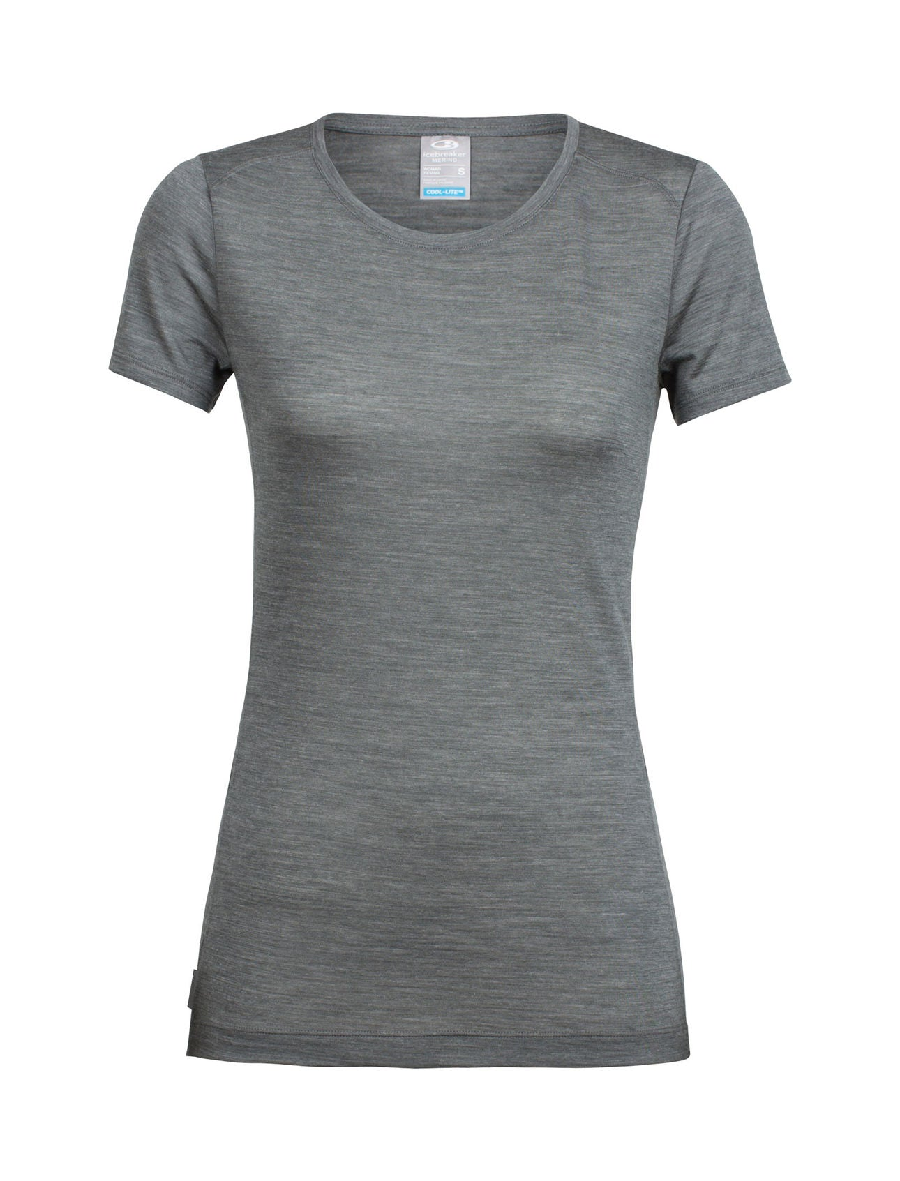 Icebreaker Sphere SS Low Crewe Tee for Ladies in Metal Heather
