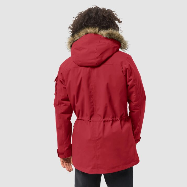 Jack Wolfskin Glacier Canyon Parka for Men in Red Lacquer