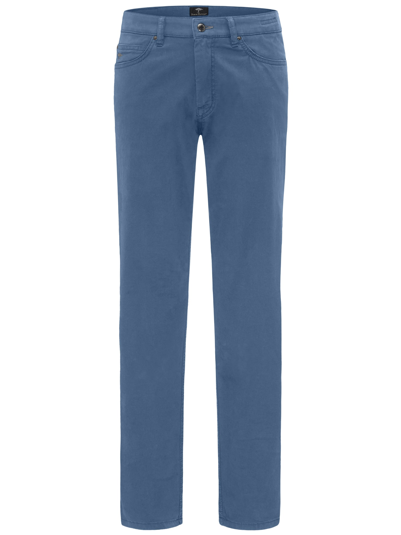 Fynch Hatton Tansania 5 Pocket Pima Trousers for Men in Pacific