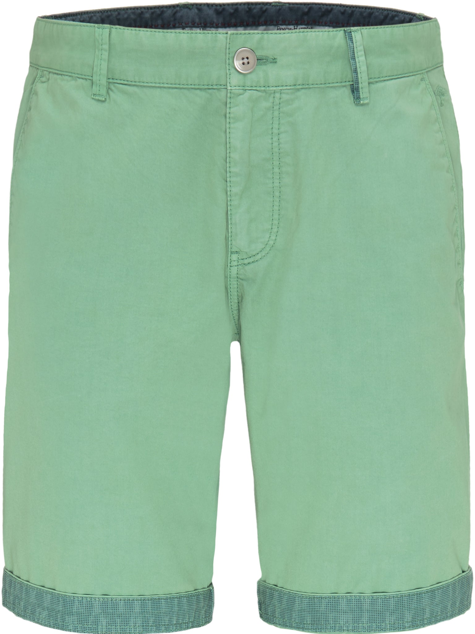 Fynch Hatton Garment Dyed Shorts for Men in Mint