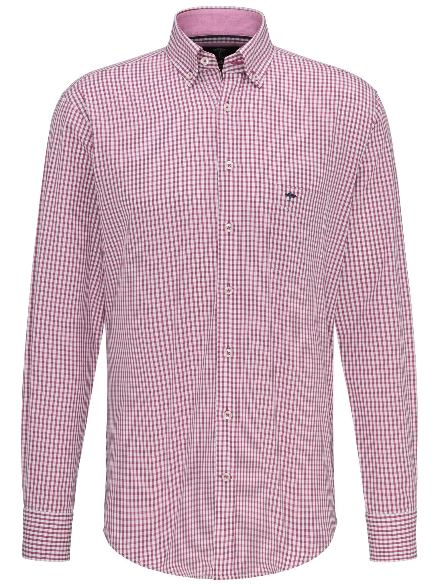 Fynch Hatton Summer Check Long Sleeve Shirt for Men in Softberry