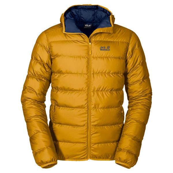 Jack Wolfskin Helium Down Coat for Men in Golden Yellow