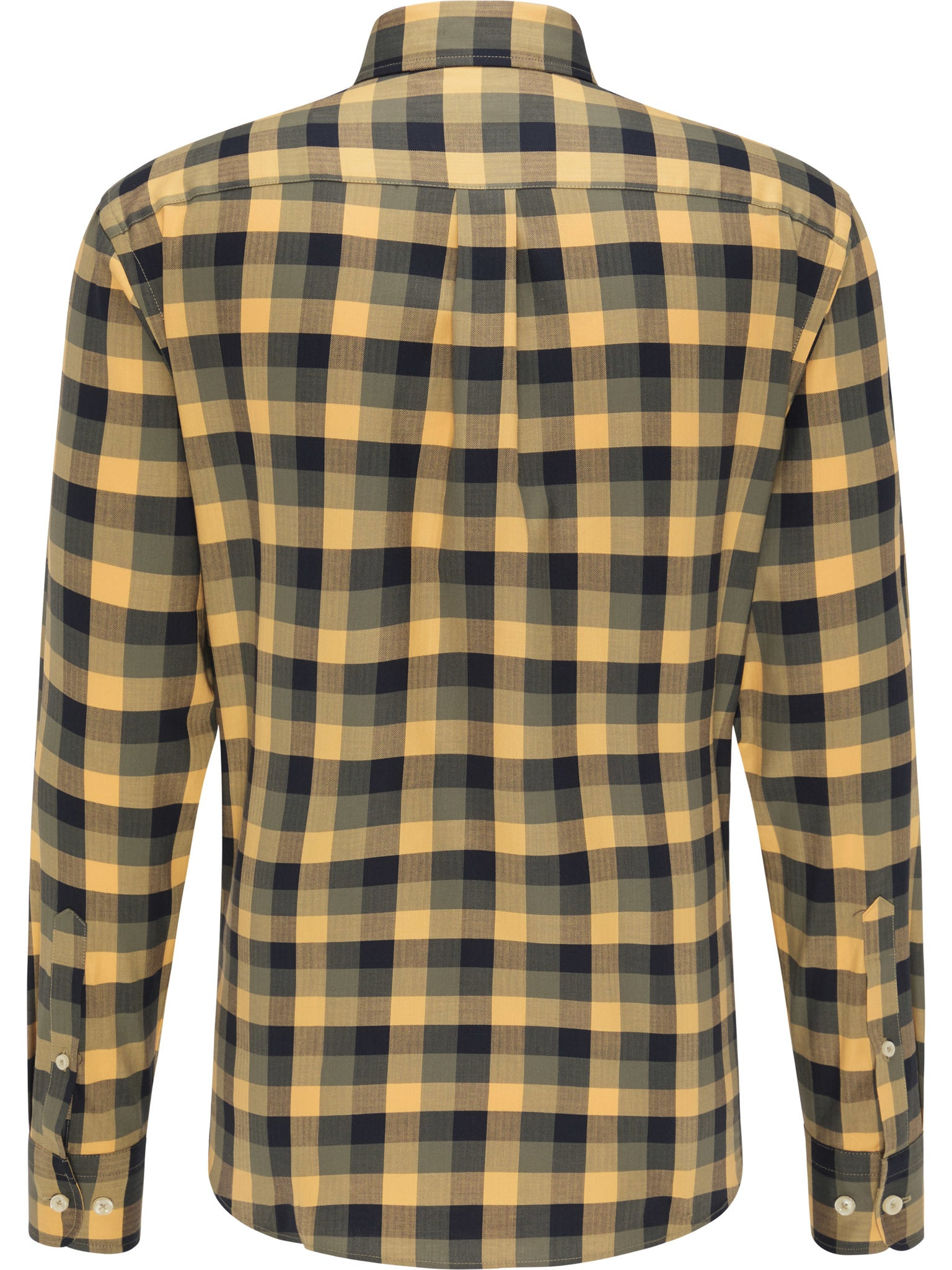 Fynch Hatton Flannel Fond Check Shirt for Men in Mustard Check