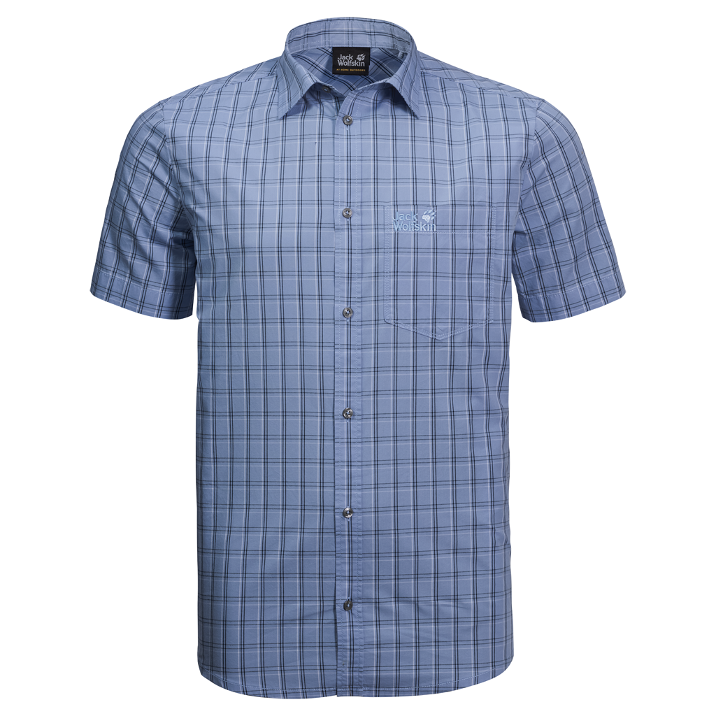 Jack Wolfskin Hot Springs Shirt for Men in Blue Checks