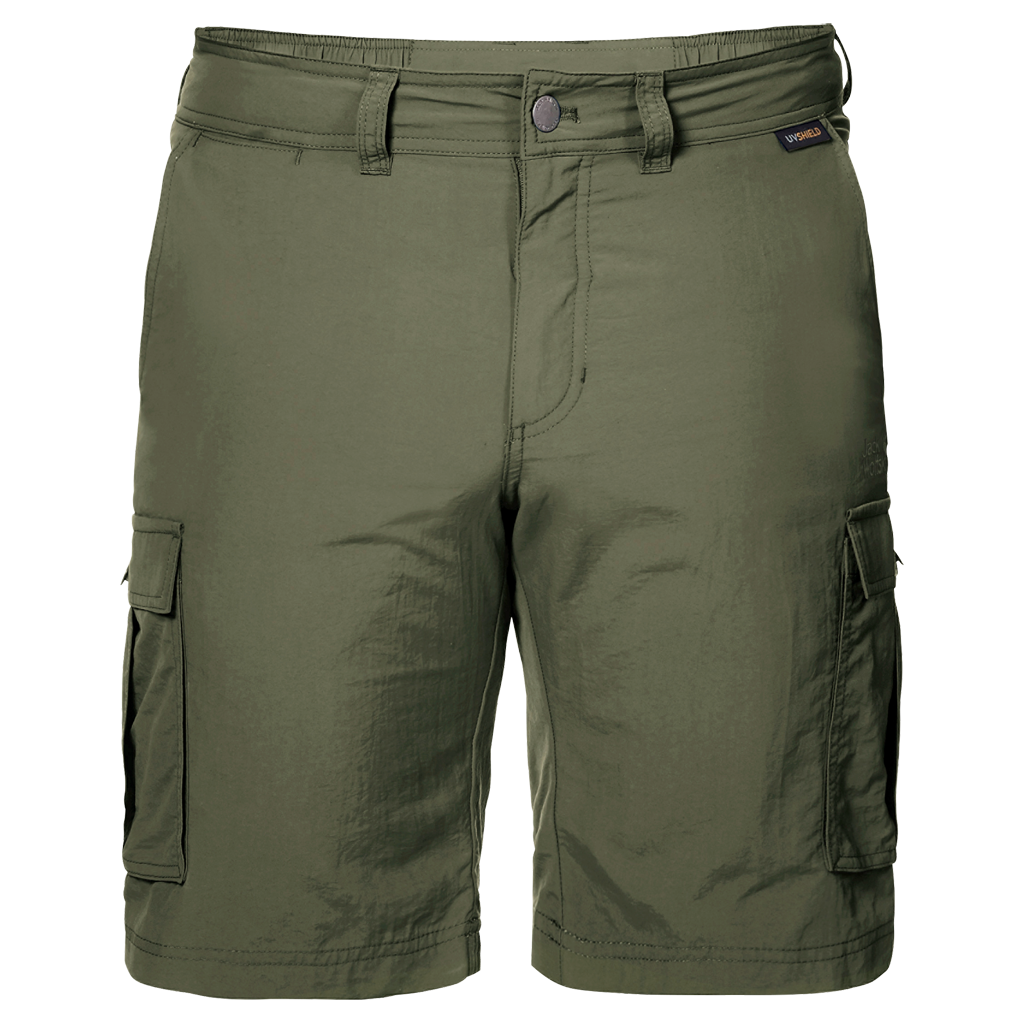 Jack Wolfskin Canyon Cargo Shorts for Men in Woodland Green