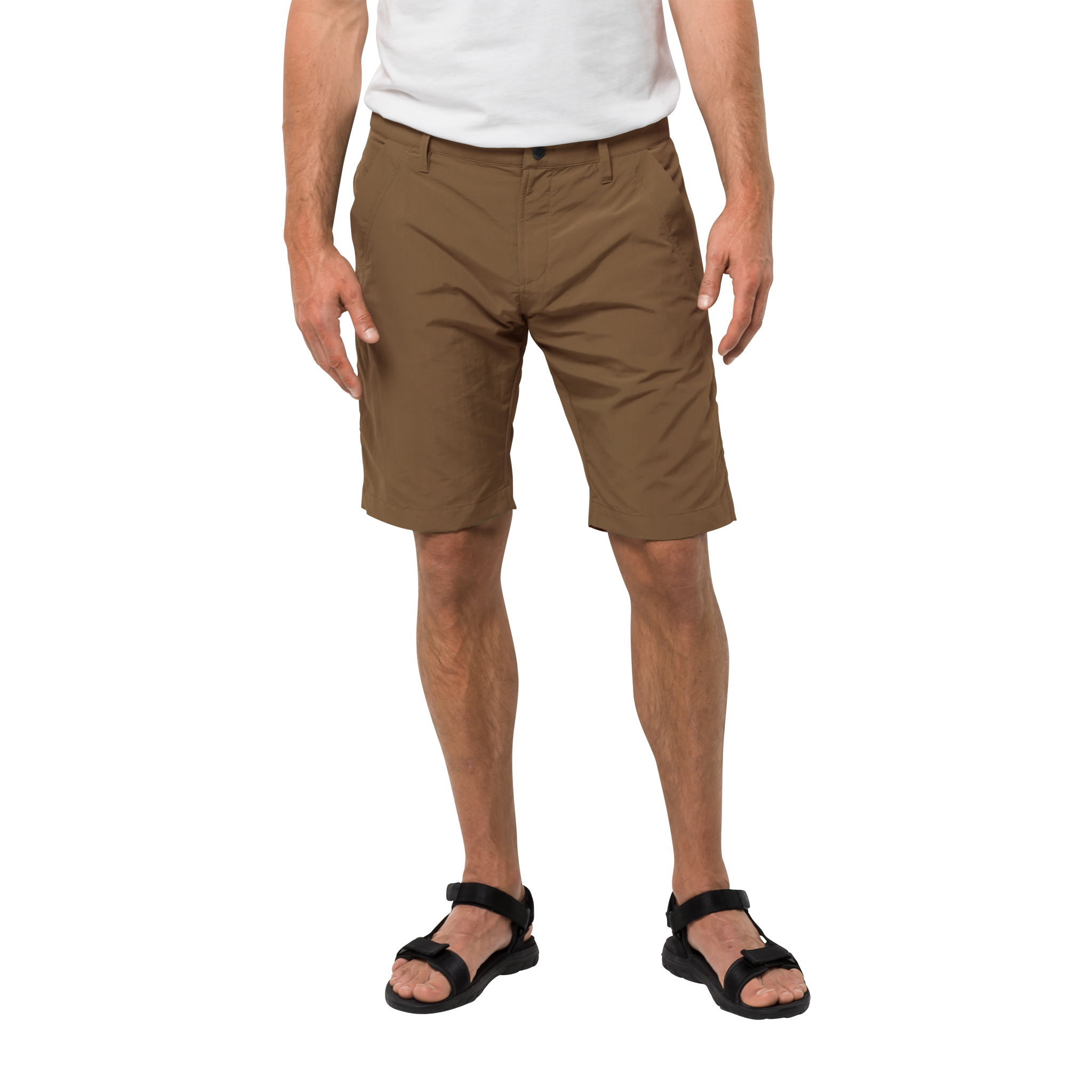 Jack Wolfskin Desert Valley Shorts for Men in Bark Brown