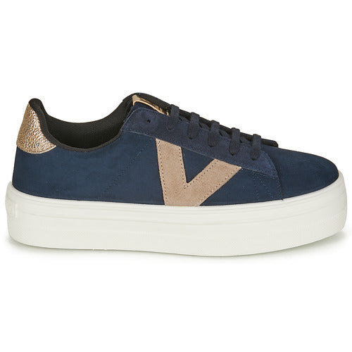 Victoria Barcelona Platform Trainer for Ladies in Marino Navy