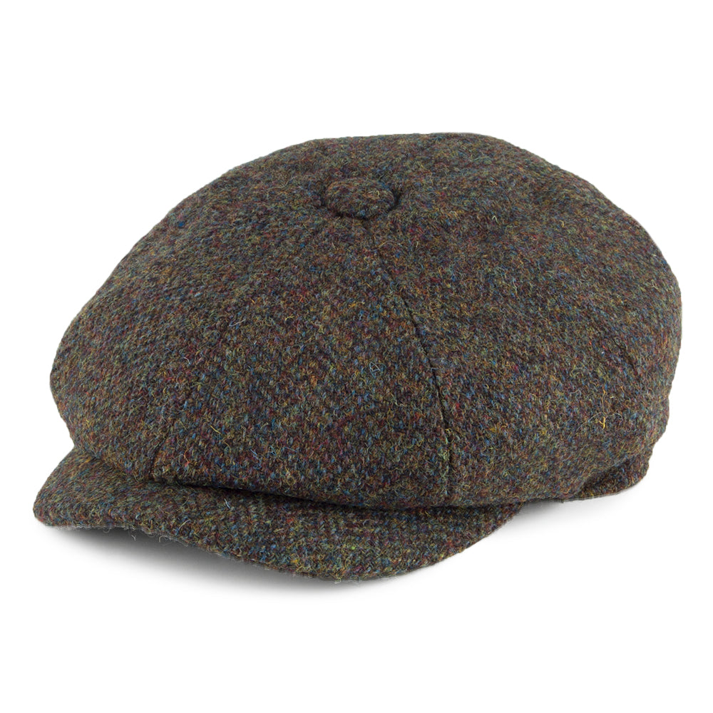 Failsworth Carloway Tweed Cap for Men in Olive