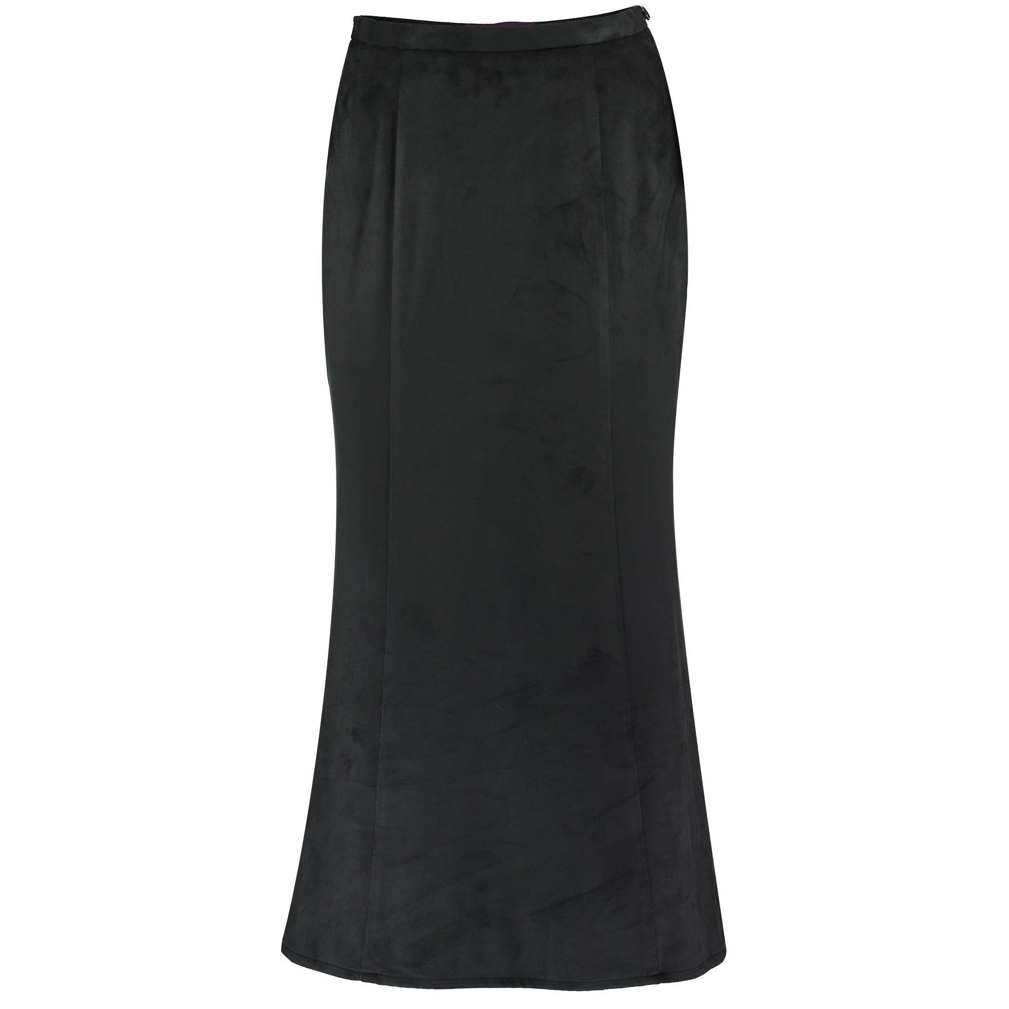 Landmark Lambourn Suede Six Panel Skirt for Ladies in Charcoal