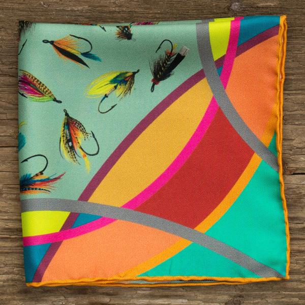 Bhoid Tay Pocket Square for Men in Green