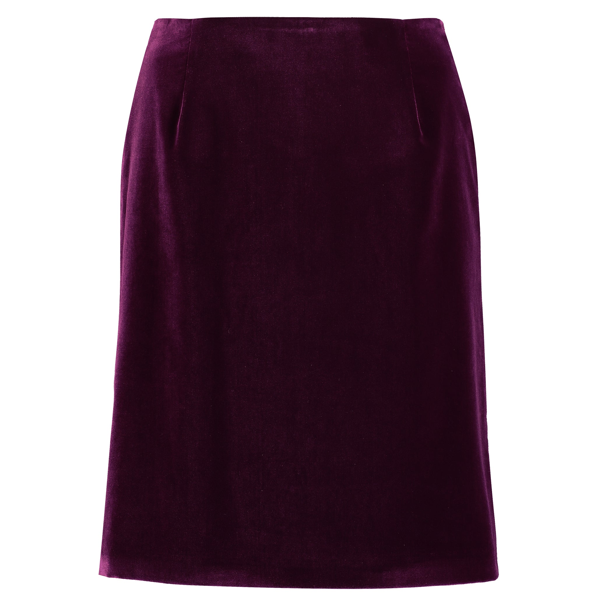 Landmark Velvet Berwick Skirt for Ladies in Merlot Velvet