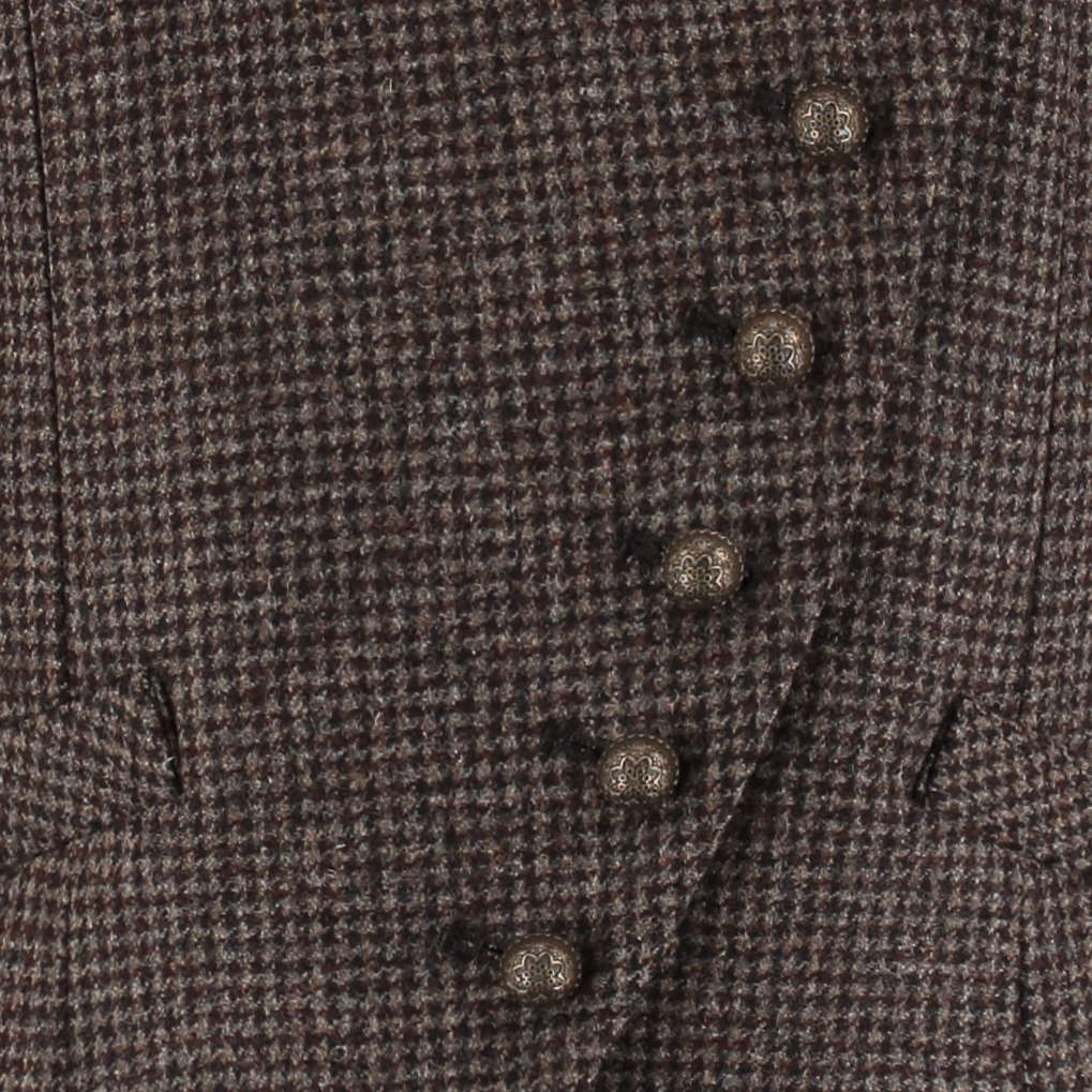 Landmark Lingfield Waistcoat for Ladies in Chocolate Puppytooth