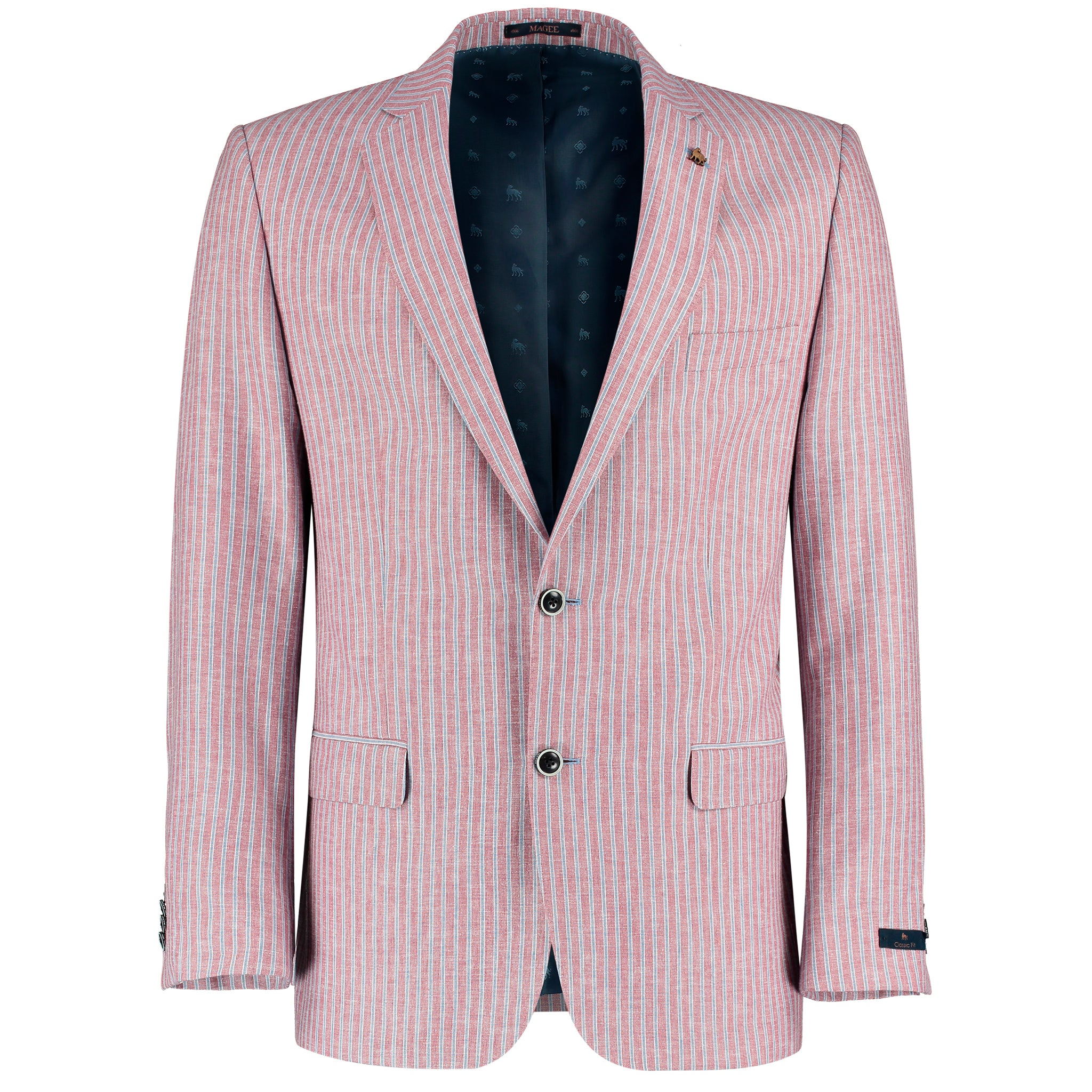 Magee Nice T2 Jacket for Men in Pink Blue Stripe