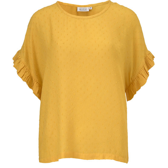 Masai Earleen Short Sleeve Top for Ladies in Sunshine