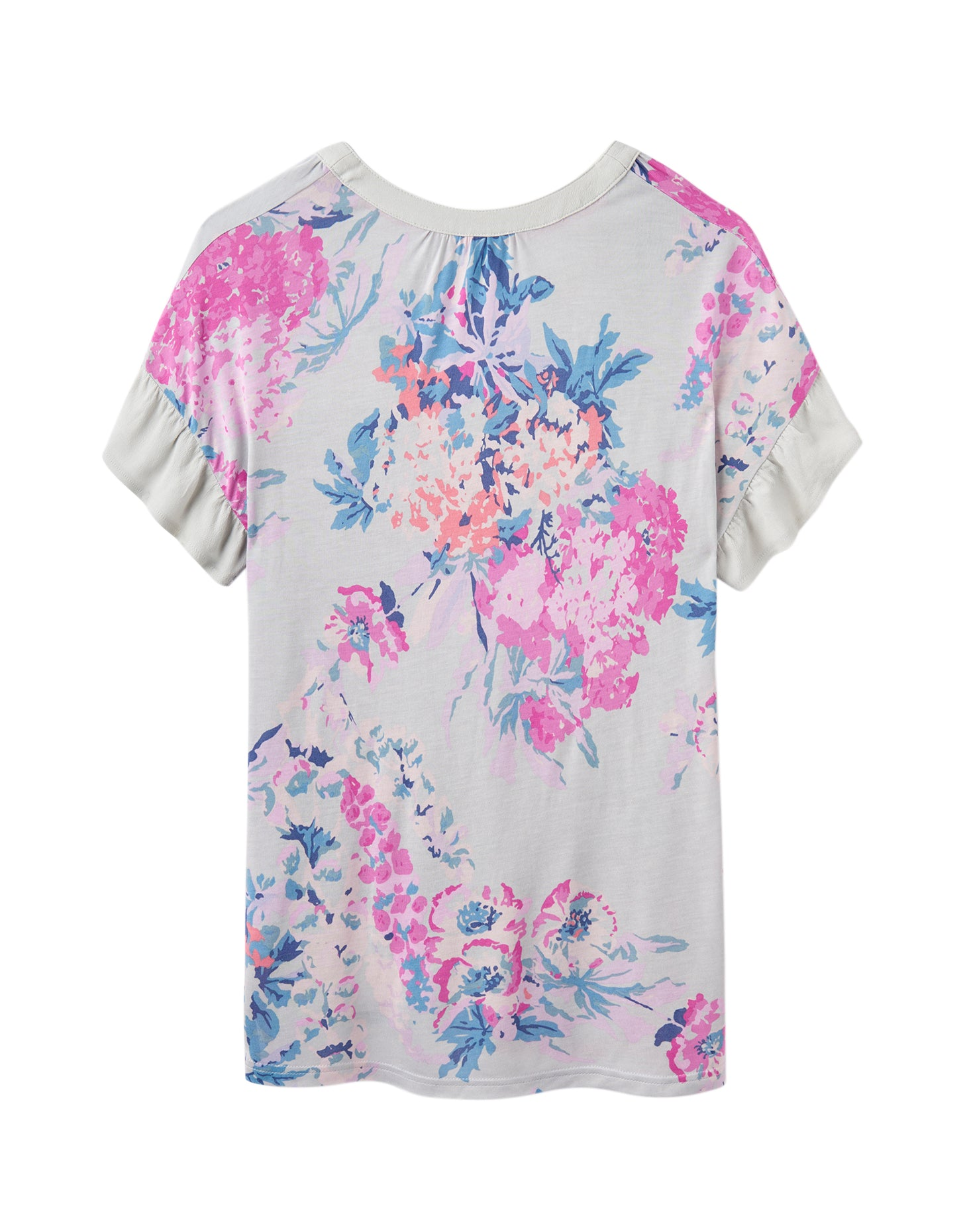 Joules Katherina Woven Top for Ladies in Grey Floral