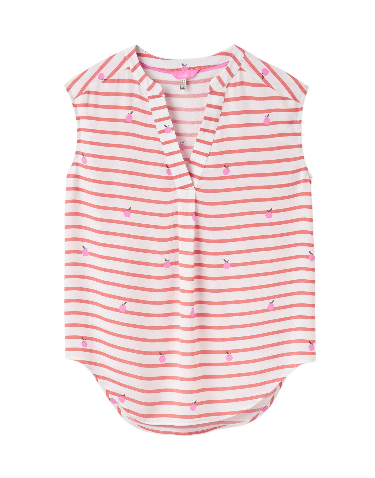 Joules Jae Woven Top for Ladies in Orange Stripe