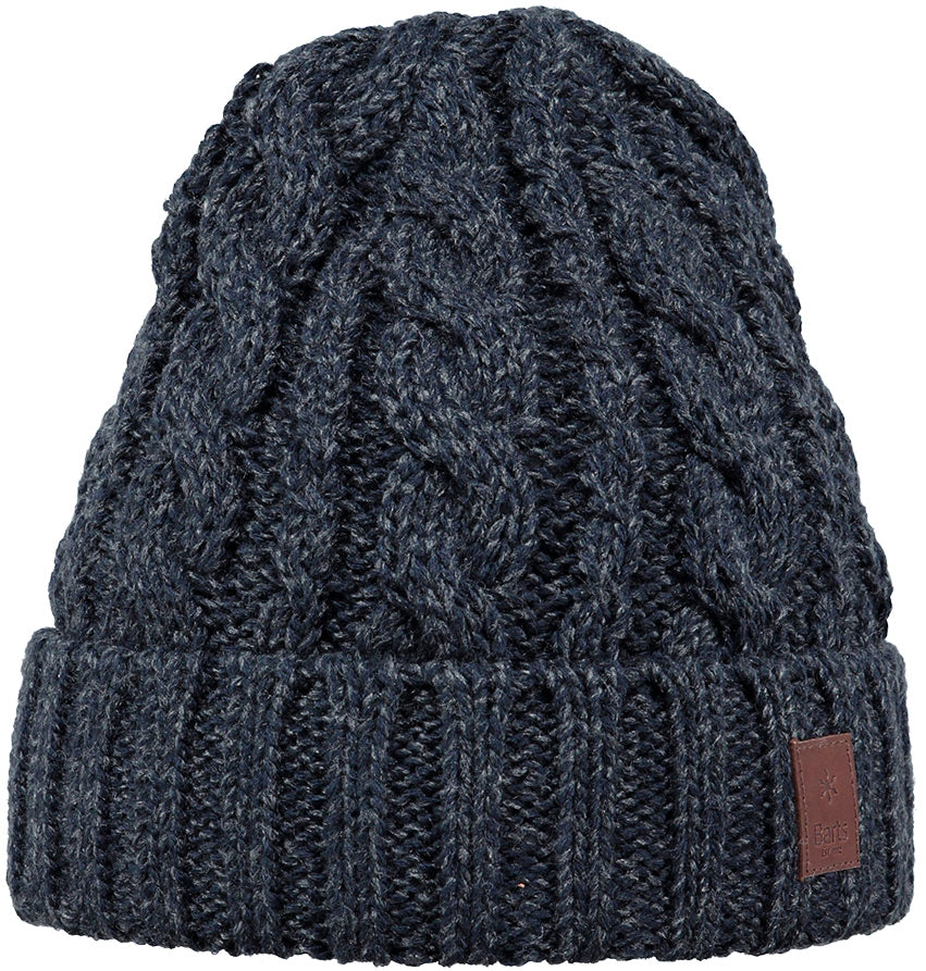 Barts Twister Turnup Beanie for Men in Navy