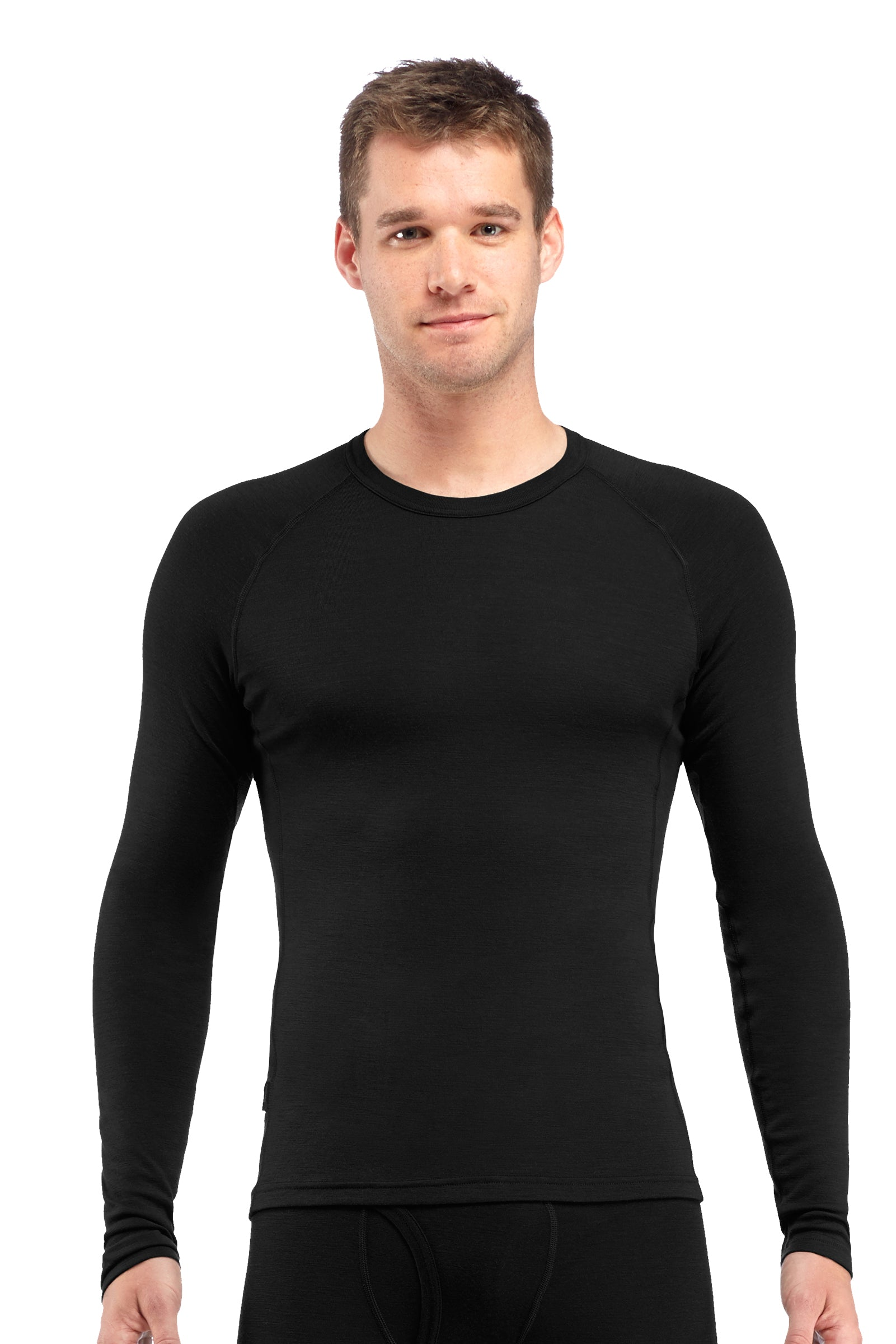 Icebreaker Long Sleeved Crew Everyday for Men in Black