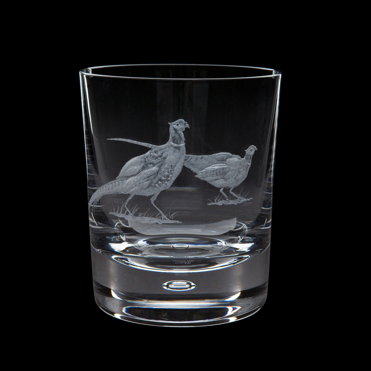 Dartington Crystal Engraved Pheasant Tumbler