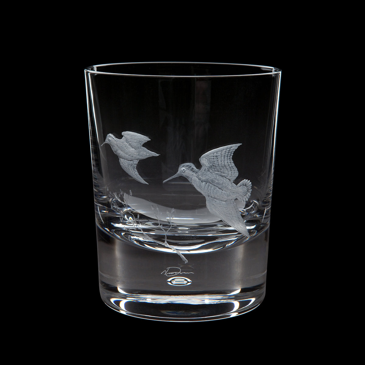 Dartington Crystal Engraved Woodcock Tumbler