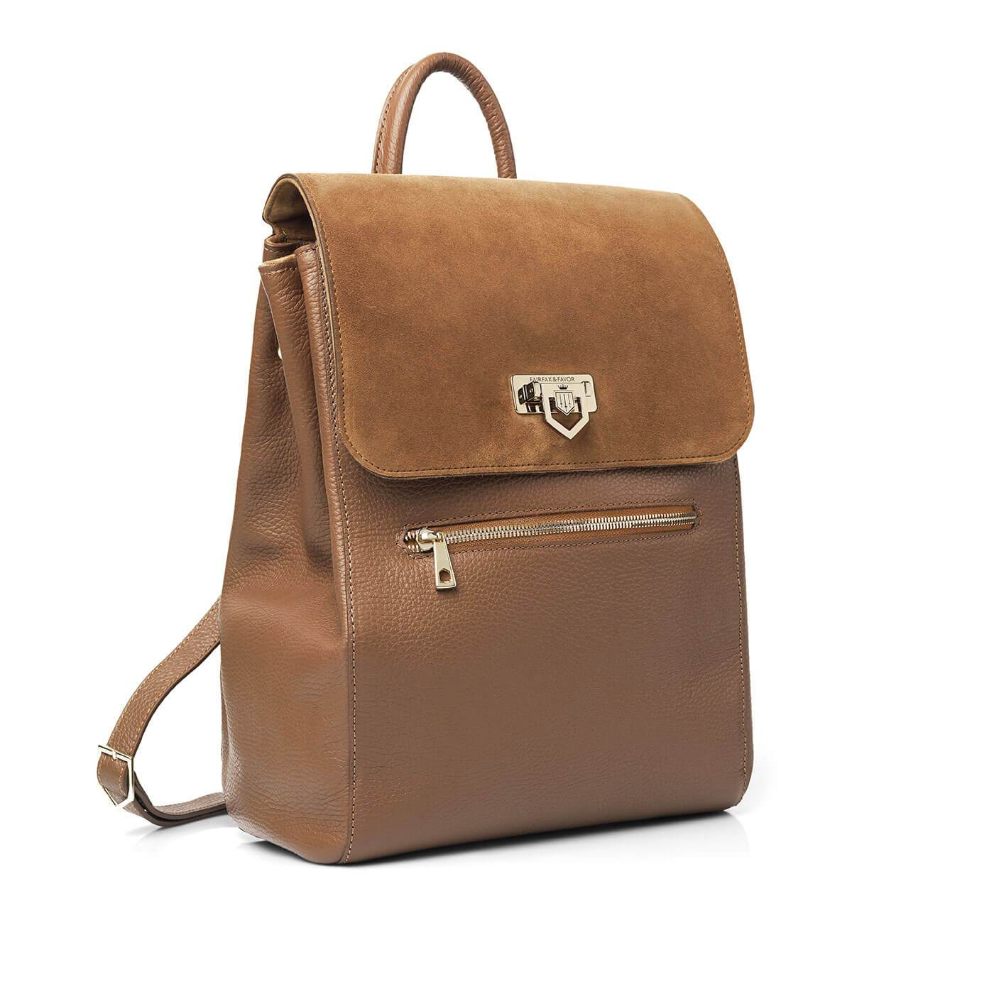 Fairfax and Favor Loxley Backpack for Ladies in Tan