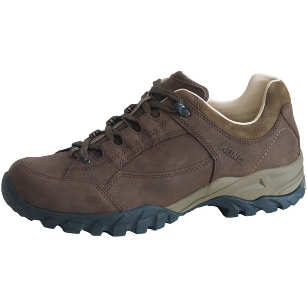 Meindl Lugano Wide Fit Walking Shoe for Men in Dark Brown
