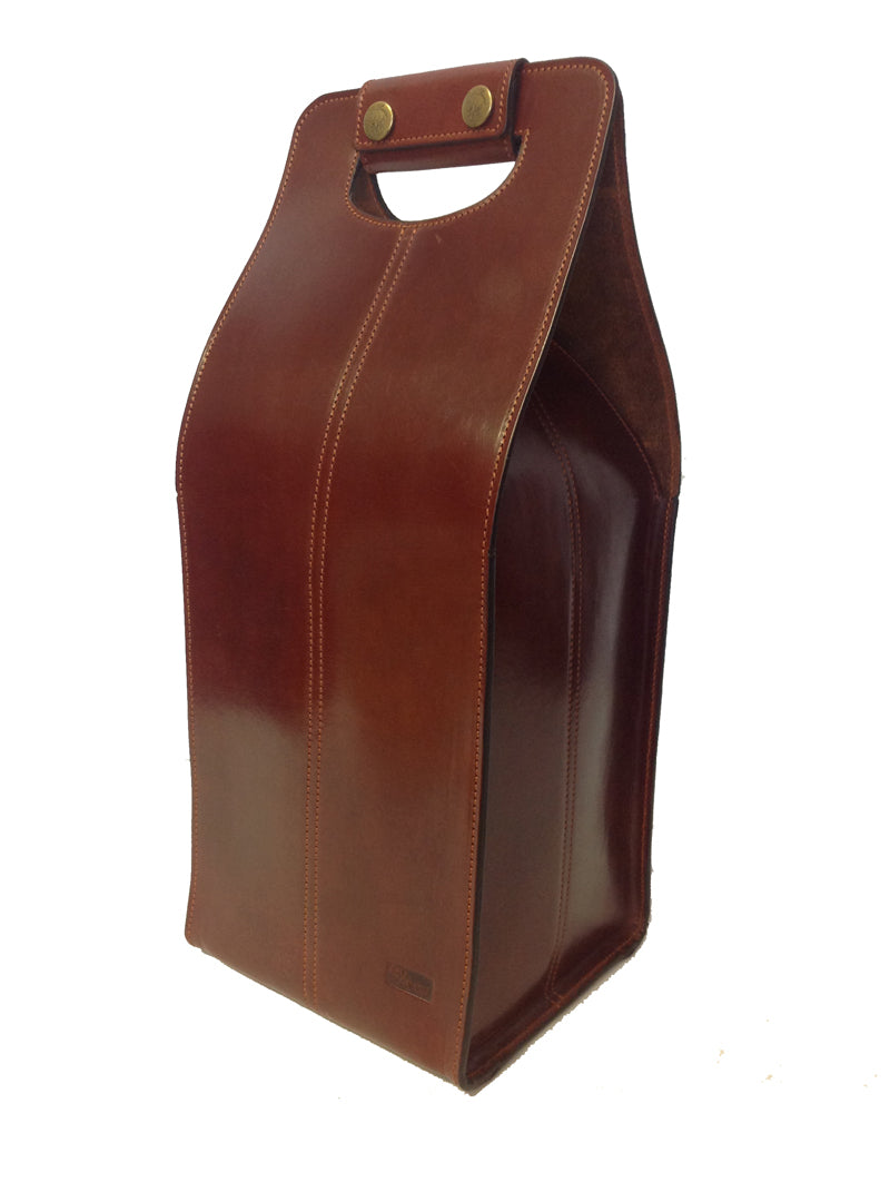 Rey Pavon Leather 4-Bottle Carrier in Honey