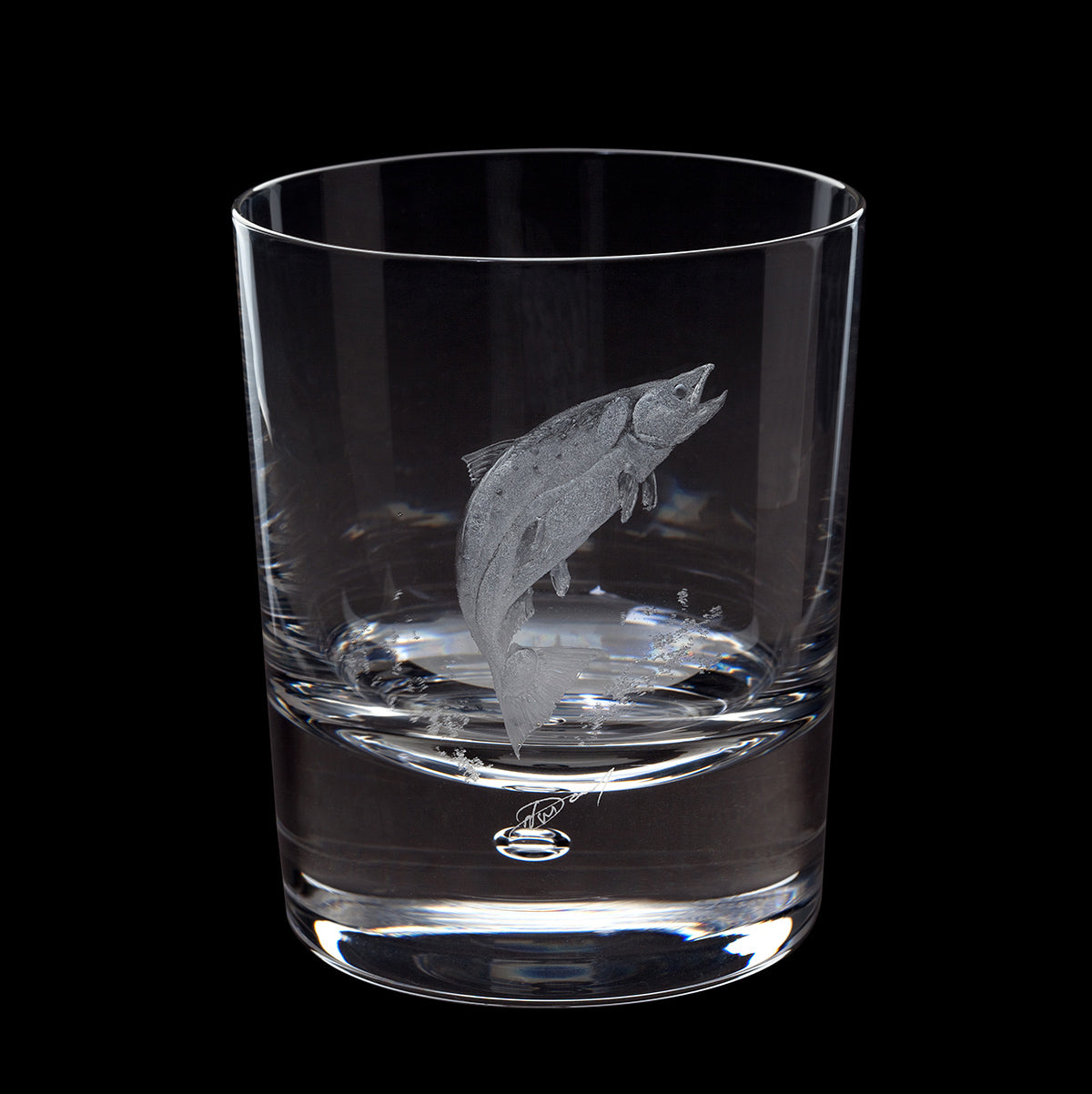 Dartington Crystal Engraved Salmon Tumbler
