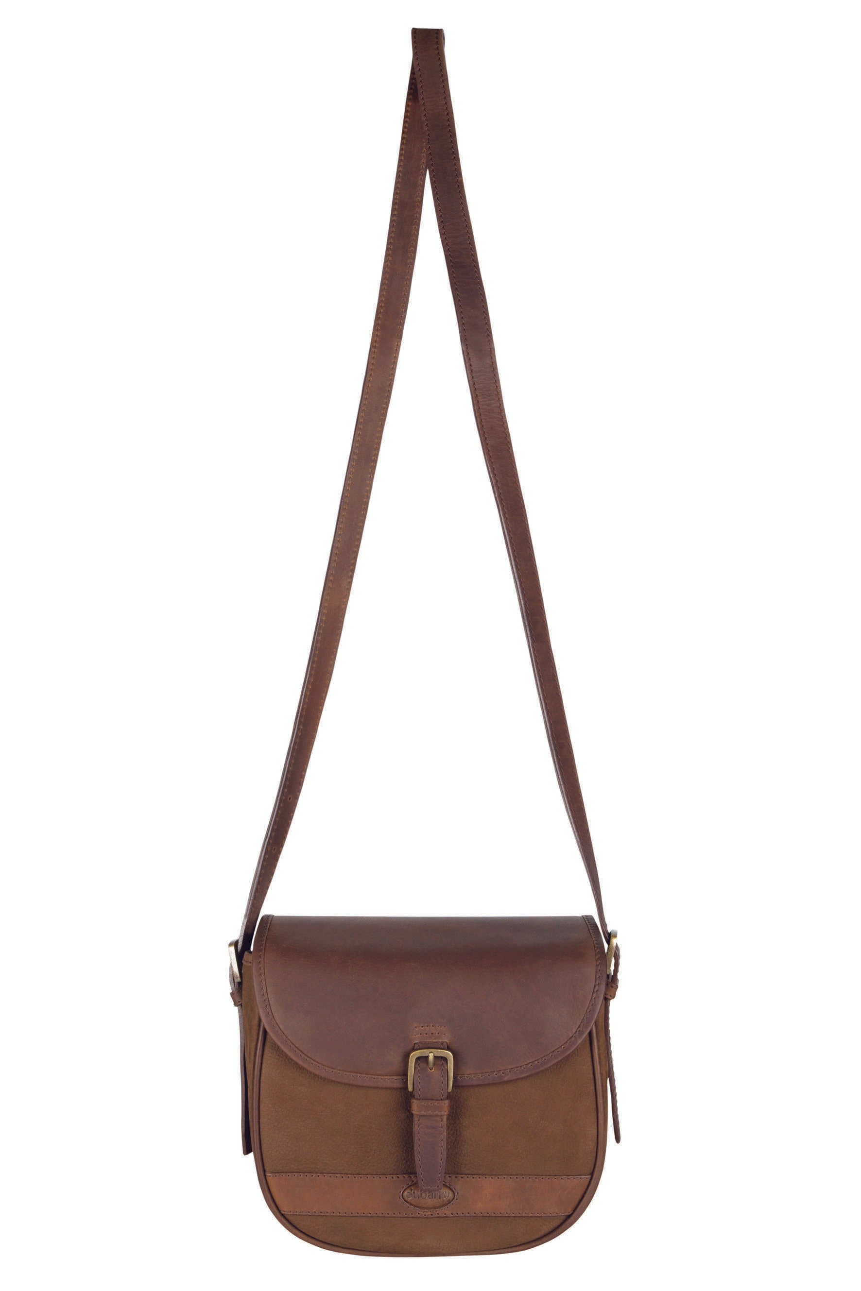 Dubarry Clara Leather Saddle Style Bag for Ladies in Walnut