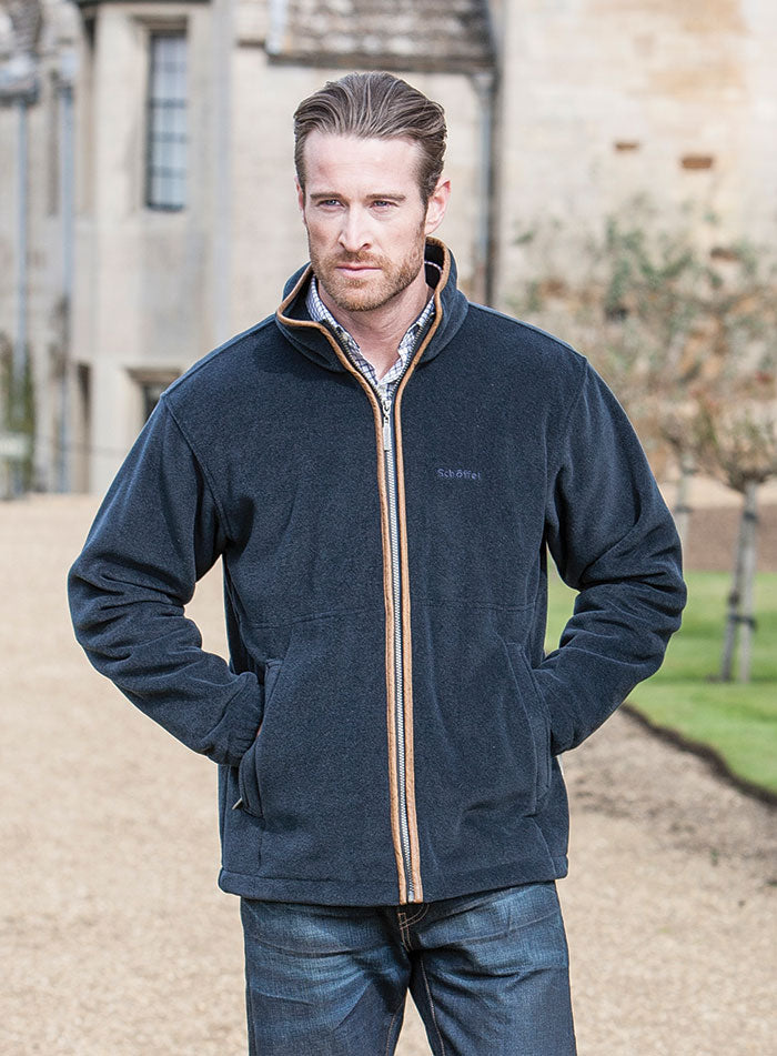 Schoffel Cottesmore Fleece Jacket for Men in Navy