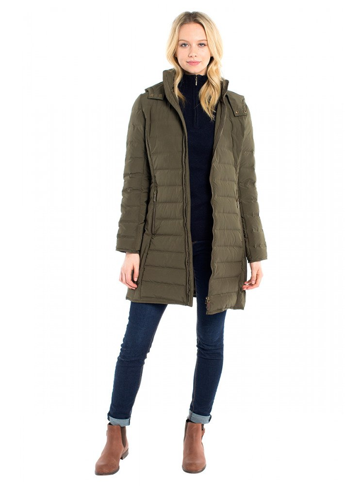 Dubarry Devlin Down Jacket for Ladies in Olive