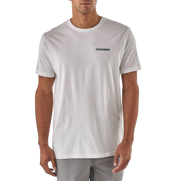 Patagonia Stand Up Organic Tee for Men in White